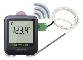 Registrador de temperatura WIFI para 2 sondas externas termopar K, J, T . Rango: -200ºC a +1350°C; . Software gratuito en inglés EL-WIFI-WIN.Incluye 2 termopar K de 1,5 m., rango: 0ºC a +200ºC.