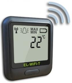 Registrador de temperatura con sensor interno por WIFI. Rango: -20 a 60°C; . Software gratuito en inglés EL-WIFI-WIN.