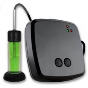 EL-SMS-2G-VAC con rango: -40ºC a +120ºC con sonda de cable 1 m. sumergido en glycol de precision con certificado y envio de sms