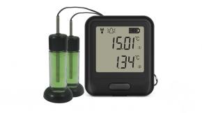 Registrador de temperatura WIFI para 2 sondas externas tipo termistor de precision con glicol . Rango: -40ºC a +125°C; . Software gratuito en inglés EL-WIFI-WIN.Incluye 2 termistor de 3 m con glicol y certificado