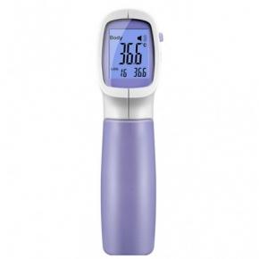 Termómetro de infrarrojos con aprobación clínica de frente o oreja sin contacto.