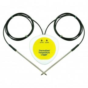 Registrador de temperatura Thermadata modelo TB2Fciego con 2 sensores externos