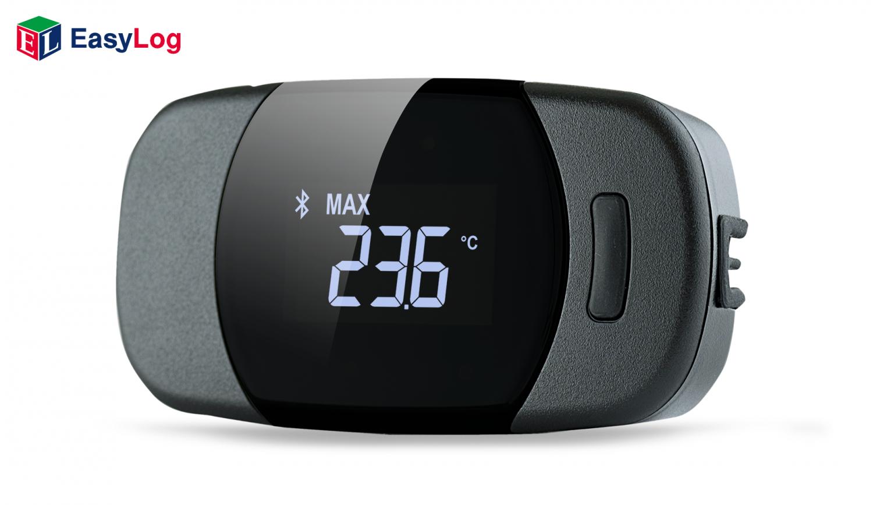 El registrador de datos de EL-BT-2 mide y almacena hasta 500.000 lecturas de temperatura y humedad, rango: 0 a 100% Hr y -35ºC a +80ºC