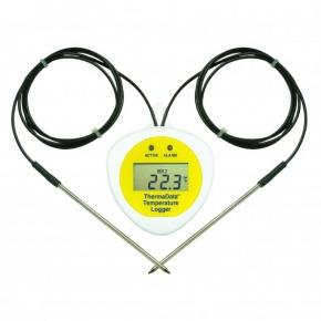 Registrador de temperatura TD2F con display con 2 sensores externos